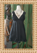 Little Black Bubble Dress by Mike and Chris