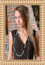 Amazonite long, single strand necklace