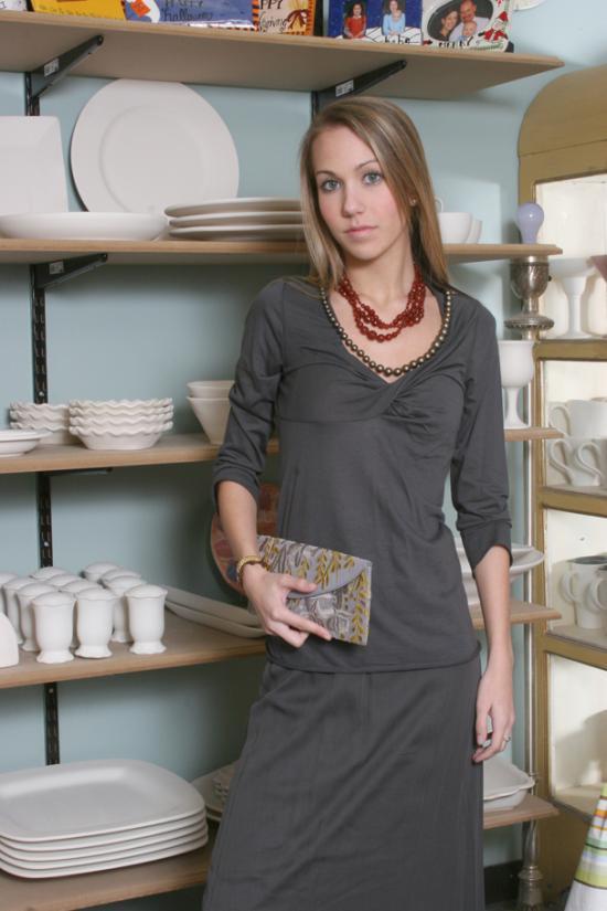 Gypsy Moon: Rozae Nichols Chiffon/Jersey Maxi Skirt :  romantic chiffon women soft