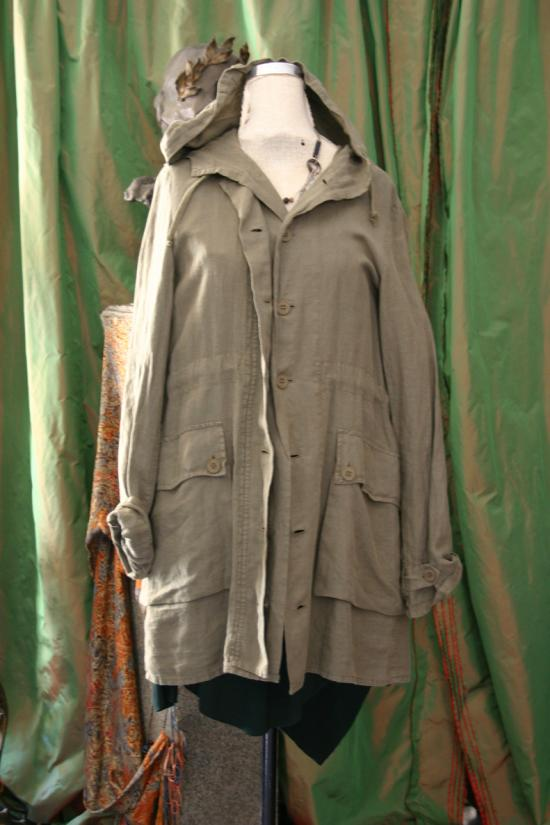 Distressed Linen Jacket from Twin Set