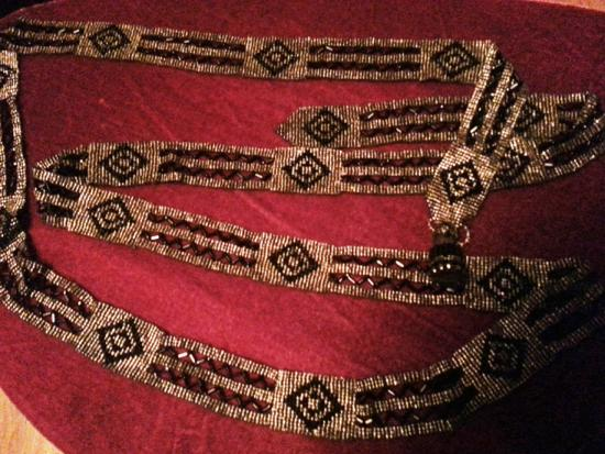 Art Deco Cut Steel Flapper Belt..62 Inches Long!