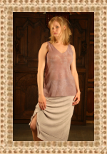 Robin Kaplan Double Layer Linen Knit Skirt