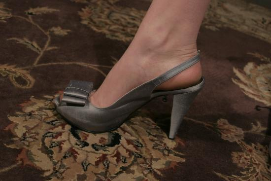 Silver Silk Charm Shoes