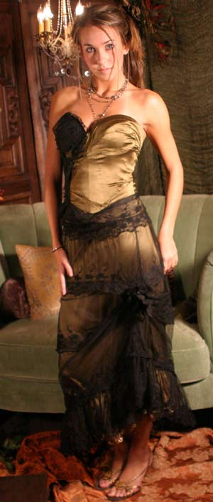 Black Lace Overskirt